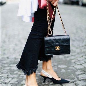 80s Rare Vintage Chanel black mini flap crossbody